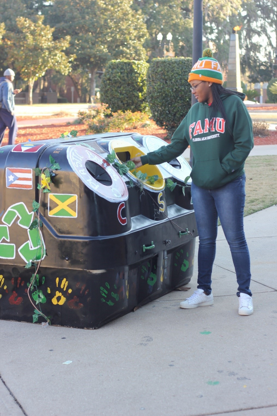 FAMU students are embracing recycling on campus and at game days.