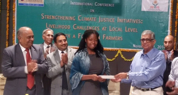 Partners from Indian universities in the NCCSD have signed a research partnership with FAMU, represented by Ms. Abena Ojetayo, FAMU Sustainability Institute Chief Sustainability Officer